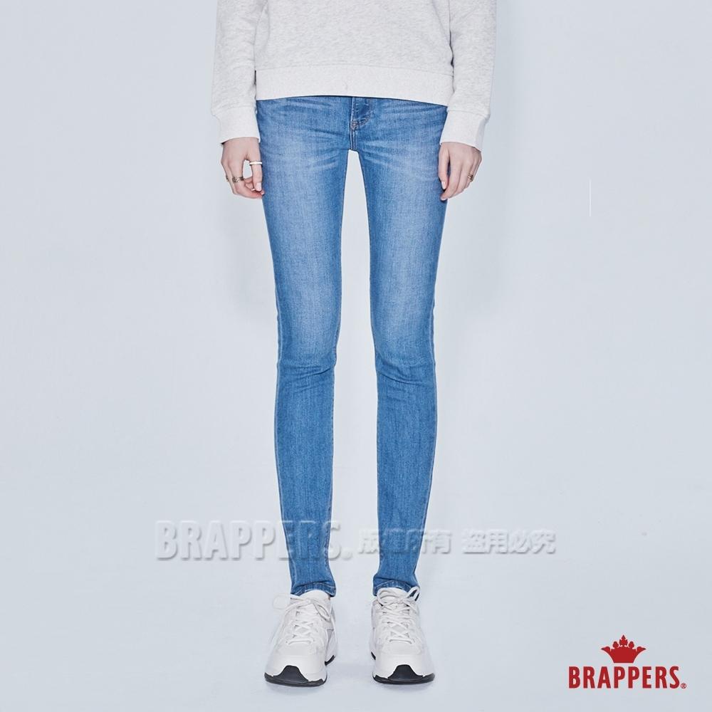 BRAPPERS 女款 新美腳ROYAL系列-低腰彈性九分窄管褲-淺藍