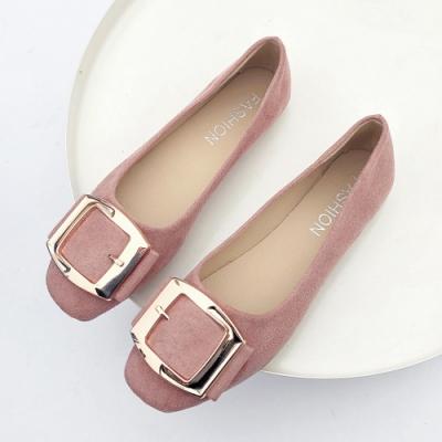 KEITH-WILL時尚鞋館 活力甜心金屬飾品平底鞋 粉