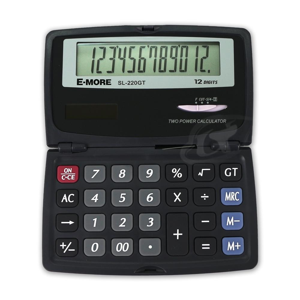 E-MORE 國家考試專用口袋型計算機 SL-220GT/黑