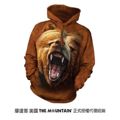 摩達客 美國進口The Mountain 棕熊怒吼 長袖連帽T恤