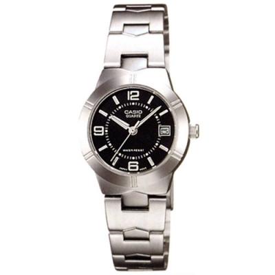 時時樂限定-CASIO 精緻小巧錶面淑女指針不鏽鋼腕錶(多款顏色任選)