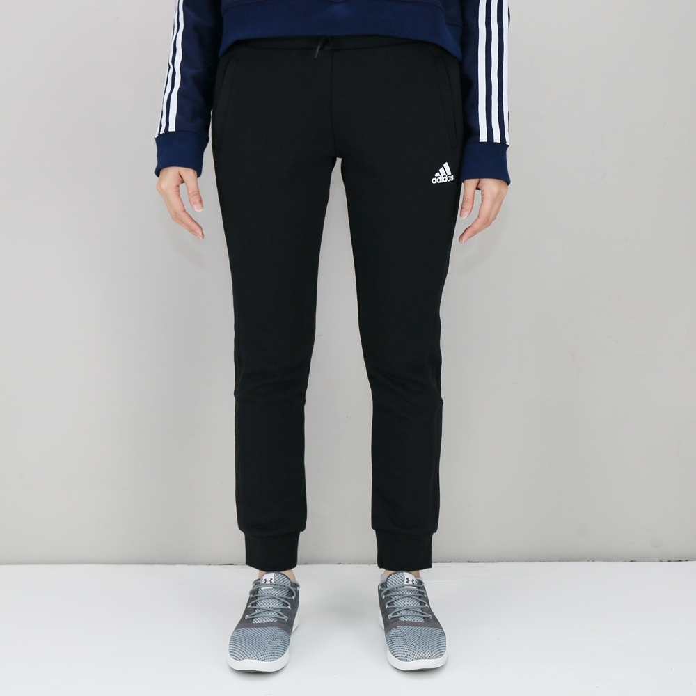 ADIDAS Knit 3S Pant 女 黑 長褲-DW5731