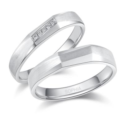 蘇菲亞SOPHIA結婚對戒-  愛の方向鉑金對戒