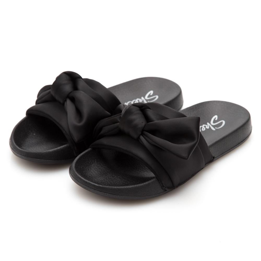 SKECHERS (女) 時尚休閒系列 2ND TAKE 拖鞋- 31533BBK