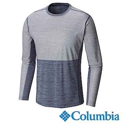 Columbia哥倫比亞 男款-防曬50長袖上衣-深藍 UAE01820NY