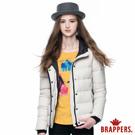 BRAPPERS 女款 女用滾邊連帽羽絨外套-米白