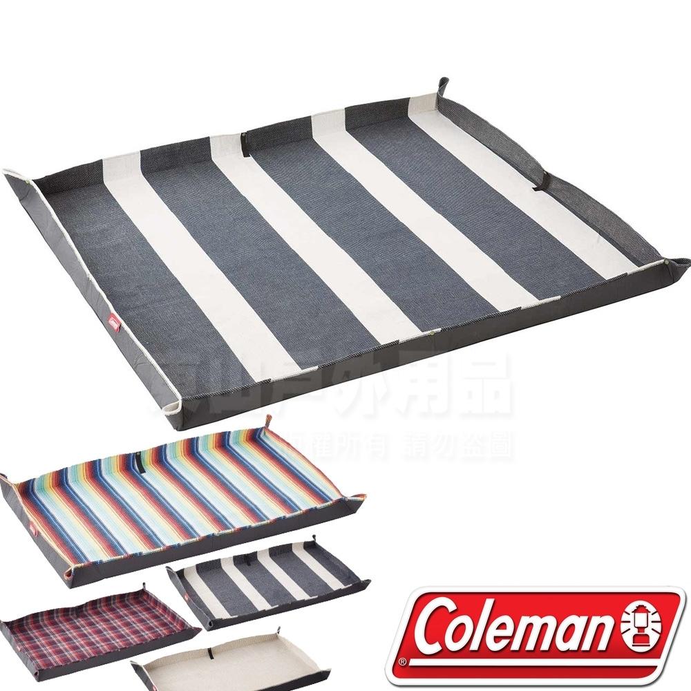 Coleman CM-36157 豪華休閒野餐墊-藍白條紋 210x170cm/露營墊/野餐墊/海灘墊/防水野營墊/遊戲軟墊