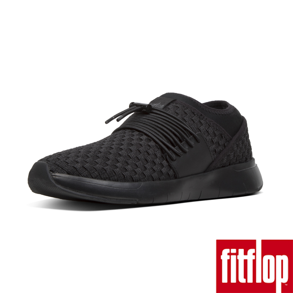 FitFlop STRIPKNIT LACE UP SNEAKERS-黑色