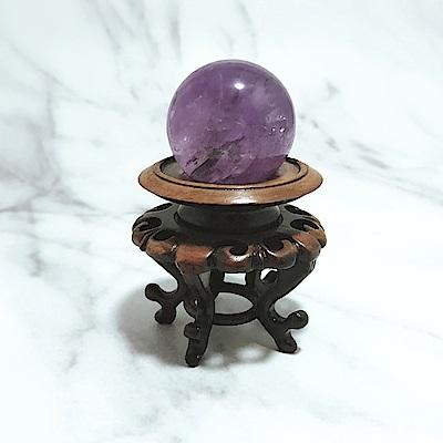 Hera 赫拉 財運亨通天然紫水晶球(含底座)