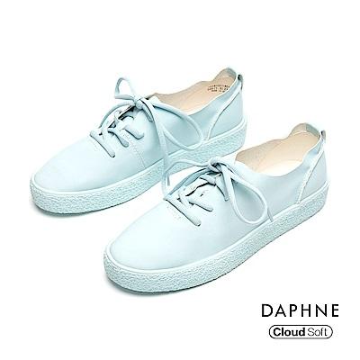 達芙妮DAPHNE 休閒鞋-輕盈簡約綁帶休閒鞋-藍