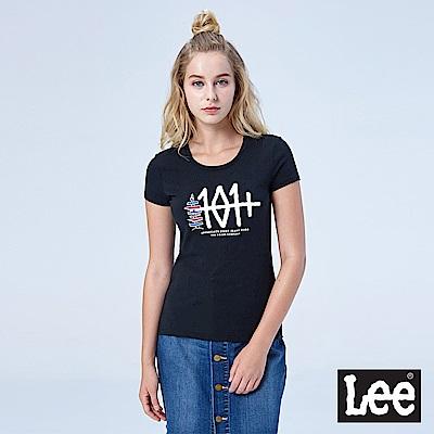 Lee 101+短袖圓領TEE-黑色