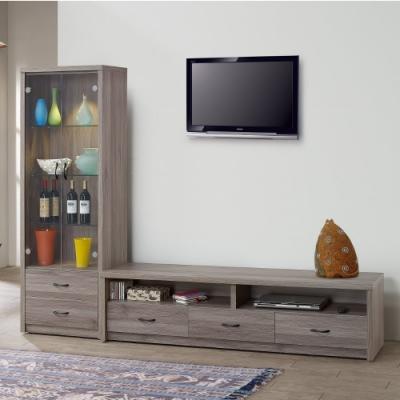 MUNA 伊莉8尺L櫃(2尺展示櫃+6尺電視櫃) 246X45X190cm