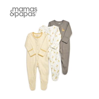 Mamas&Papas 長頸鹿按快門-連身衣3件組