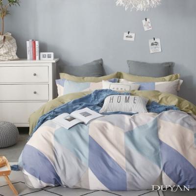 DUYAN竹漾-100%精梳純棉-單人三件式舖棉兩用被床包組-木星日記 台灣製