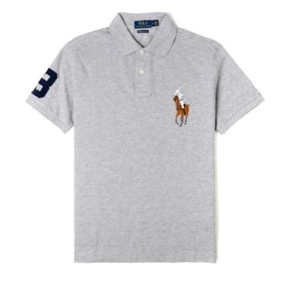 Polo Ralph Lauren經典電繡彩色大馬Polo衫(Custom)-灰色