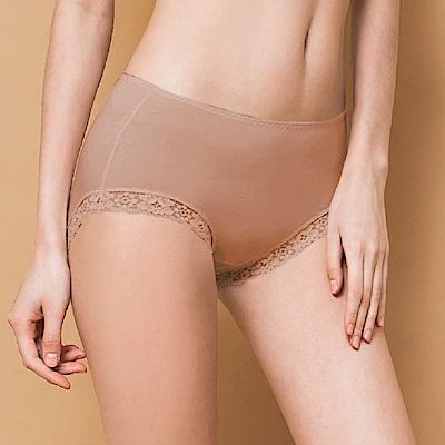 內褲 微性感蕾絲抗敏M-XL內褲 可可咖 可蘭霓Clany