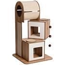 赫根Hagen Vesper貓用實木家具《挑高塔屋雙層公寓》