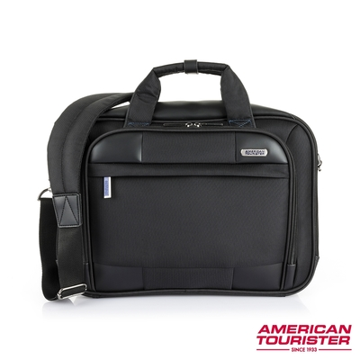 AT 美國旅行者 MERIT 耐磨抗菌質感商務筆電公事包 14吋 (黑)