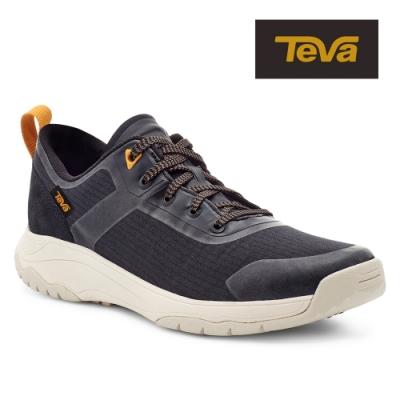 【TEVA】原廠貨 女 Gateway Low 低筒防潑水輕量休閒鞋/健走鞋(黑色-TV1115191BLK)