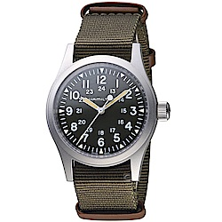 Hamilton漢米爾頓卡其野戰系列軍事腕錶(H69429931)-綠