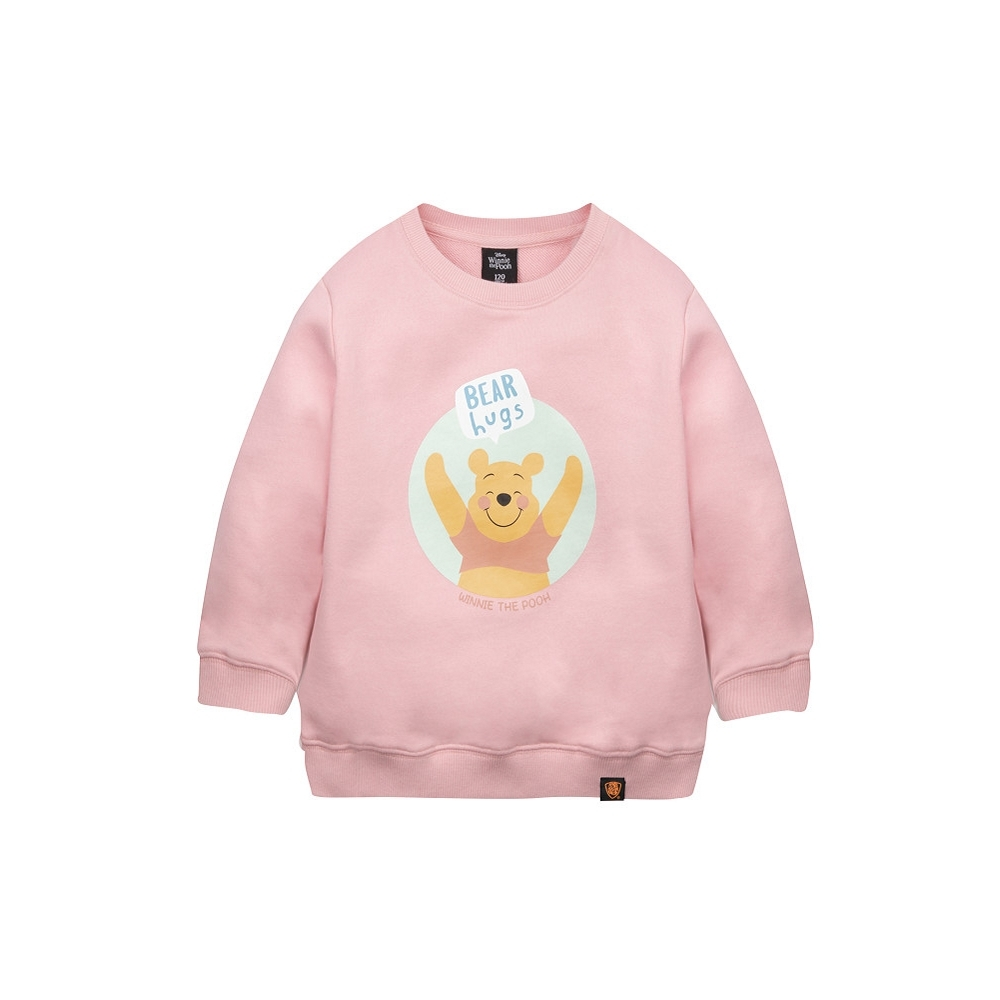 野獸國 迪士尼 小熊維尼系列 維尼擁抱款 兒童大學服 (粉色)