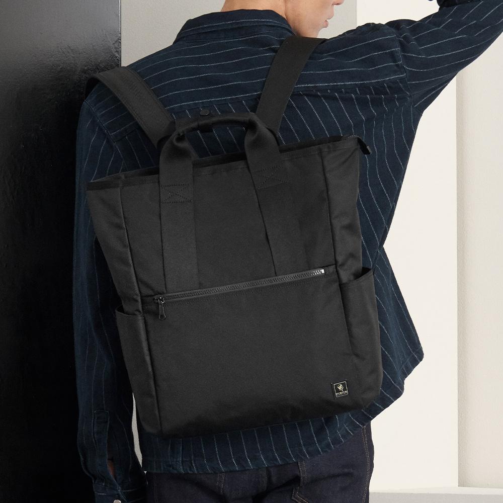 PORTER - 俐落品味INTER簡約型格後背包 (L) - 黑