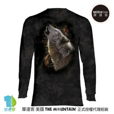 摩達客 美國進口The Mountain 秋狼之歌 純棉長袖T恤
