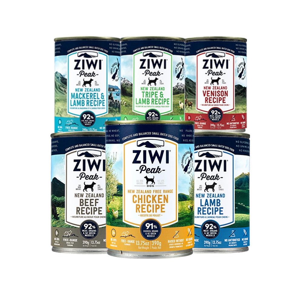 ZiwiPeak巔峰 91%鮮肉狗罐*六口味混搭 390G(一箱12罐)