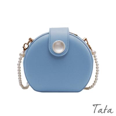 珍珠鍊條單肩包 共二色 TATA