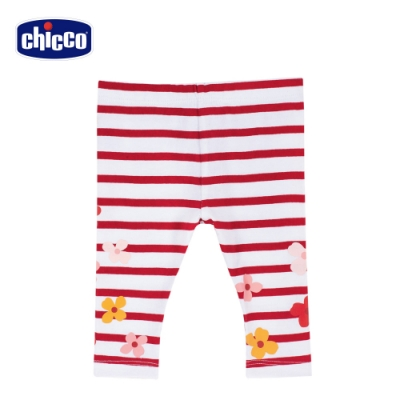 Chicco- TO BE BG-印條紋花朵內搭長褲
