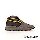 Timberland 男款中灰色皮革拼接Brooklyn休閒靴|A2BUZ