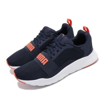 Puma 慢跑鞋 Wired Jr 運動 女鞋 輕量 透氣 舒適 避震 球鞋 大童 藍 橘 36690113