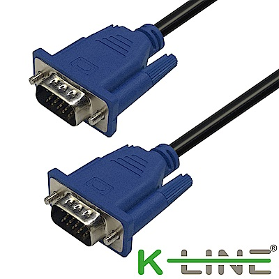 K-Line 高品質 VGA to VGA 公對公 影像傳輸連接線 3M