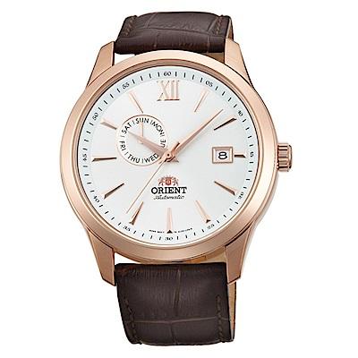 ORIENT東方錶 時尚暖男風範鏤空錶背機械腕錶(FAL00004W0)-白/42mm