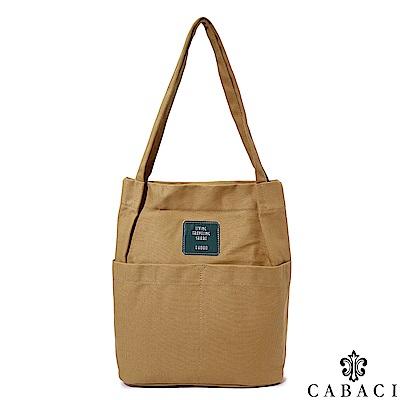 CABACI 素色文藝風肩背帆布包