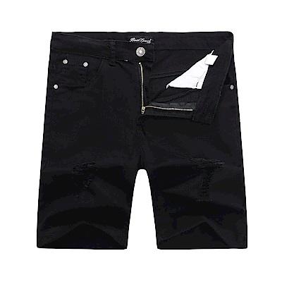 BuyGlasses 彈力抽繩口袋素面短褲