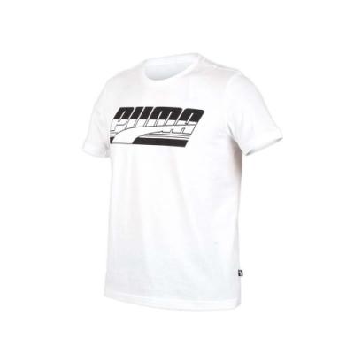 PUMA 男基本系列短袖T恤-慢跑 路跑 白黑