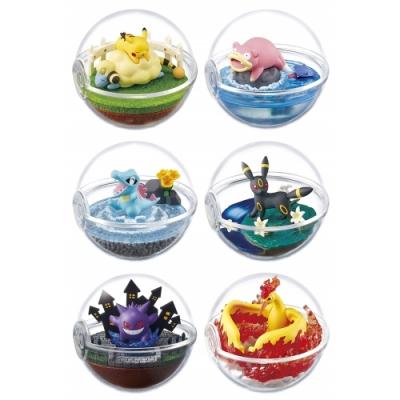 日本RE-MENT盒玩6種精靈寶可夢盆景P4皮卡丘刺甲貝咩利羊月亮伊布204079C