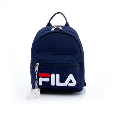 FILA 小型後背包(附鑰匙圈)-丈青 BPT-5103-NV