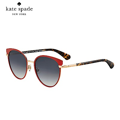 Kate Spade JANALEE/S-時尚貓眼太陽眼鏡 紅框