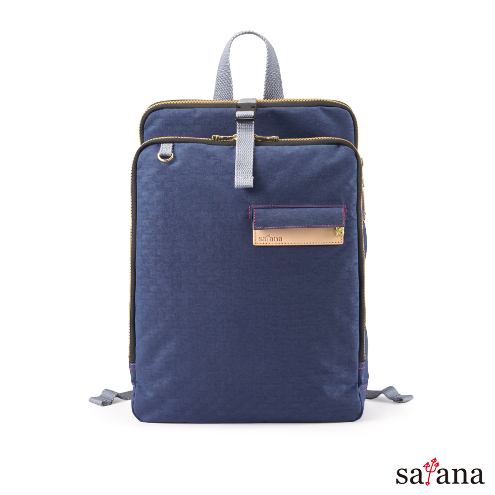 satana - Soldier 三明治後背包 - 礦青藍