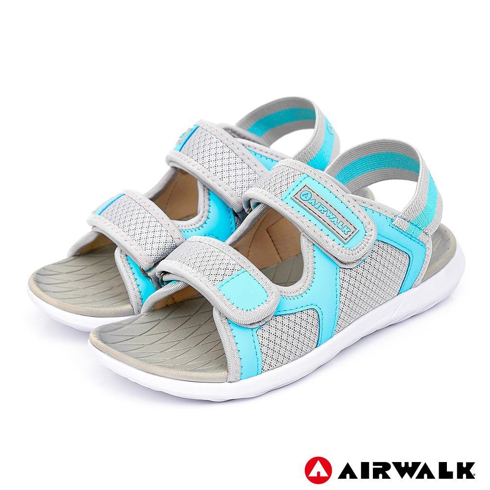 【AIRWALK】網往相連休閒涼鞋-女款-淺灰