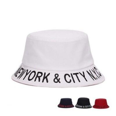 米蘭精品 遮陽防曬字母漁夫帽-純色街頭時尚情人節生日禮物男女帽子4色73db30