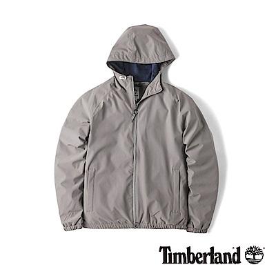 Timberland 男款短版淺灰色外套防水連帽休閒外套|A1LRG