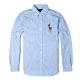 Polo Ralph Lauren 年度經典熱銷彩色大馬刺繡長袖襯衫 - 水藍色 product thumbnail 1