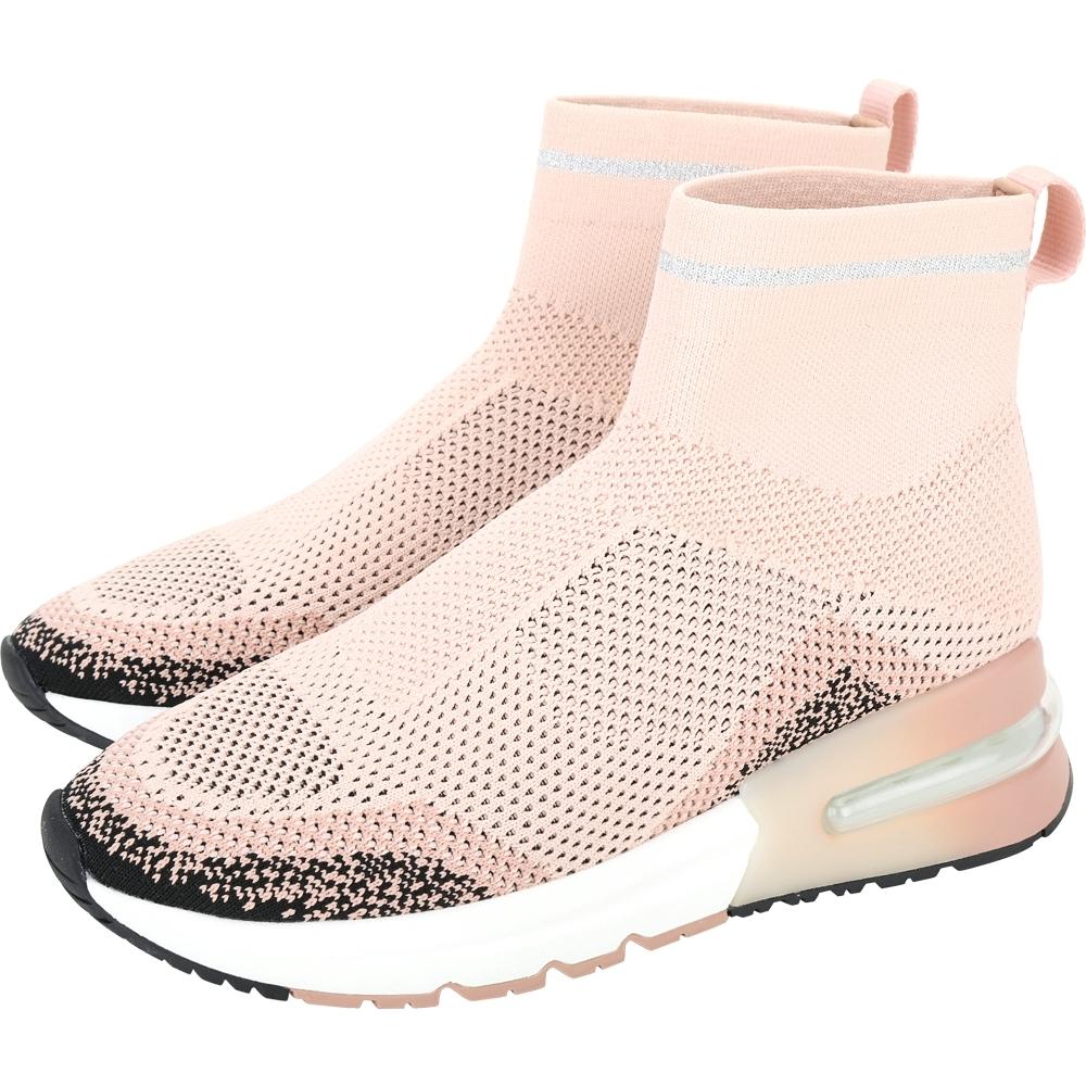 ASH Kyle Degrade 柔粉色針織襪套式氣墊運動鞋