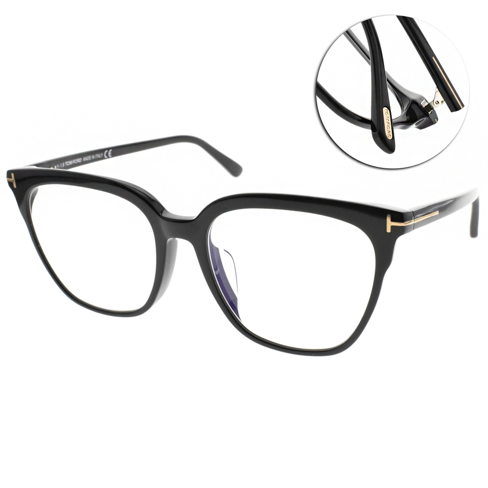 TOM FORD眼鏡 女王氣場大框款/黑 #TF5599FB 001