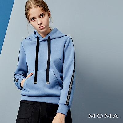 MOMA 銀蔥滾邊連帽衛衣