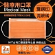 [限搶]永猷 雙鋼印拋棄式成人醫用口罩-亮眼橘(50入x2盒) product thumbnail 1