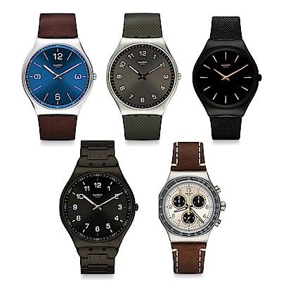 Swatch 超薄金屬手錶多款任選/均價$4675(原價5500)